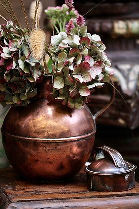Copper Guernsey milk jug