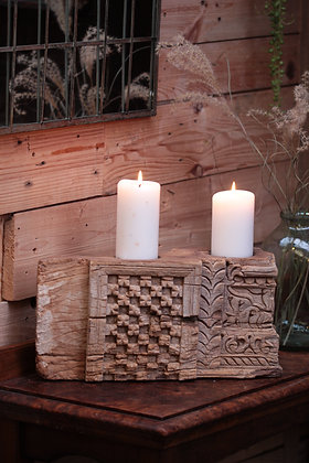 Reclaimed pillar candle holder (No:8)