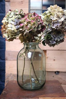 Aqua green glass vase