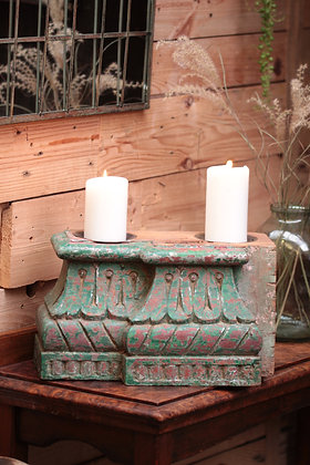 Reclaimed pillar candle holder (No:1)
