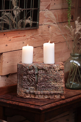 Reclaimed pillar candle holder (No:4)