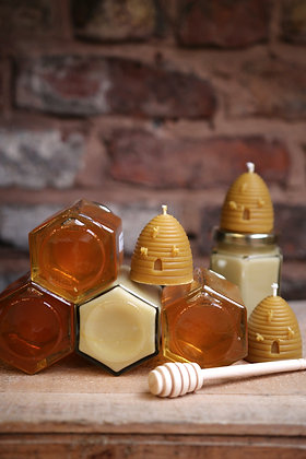 Beeswax skep shaped candle