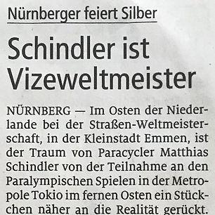 Schindler ist Vizeweltmeister