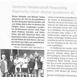 Deutsche Meisterschaft Paracycling: Bayrische Fahrer räumen gnadenlos ab