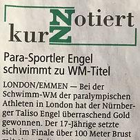 Para-Sportler Engel schwimmt zu WM-Titel