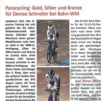 Paracycling: Gold Silber und Bronze