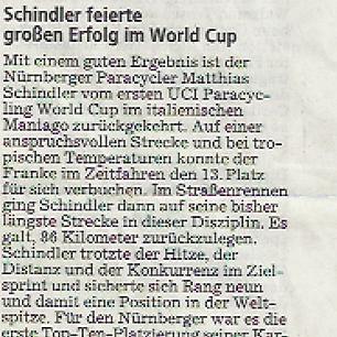 Schindler feiert großen Erfolg im World Cup