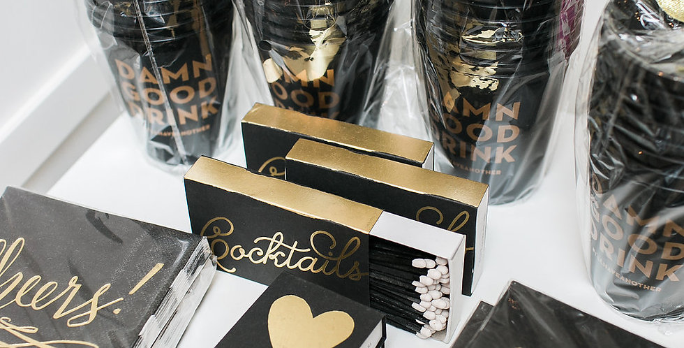 Cocktails- Large Match Box