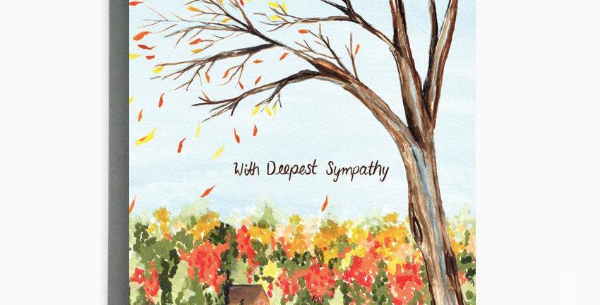 Lake Sympathy Card