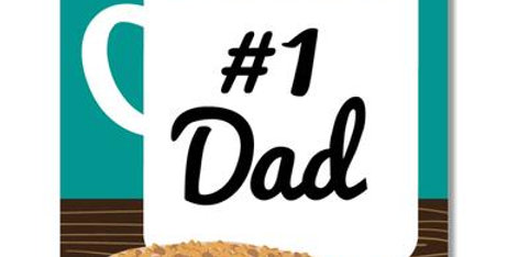 #1 dad-Greeting card
