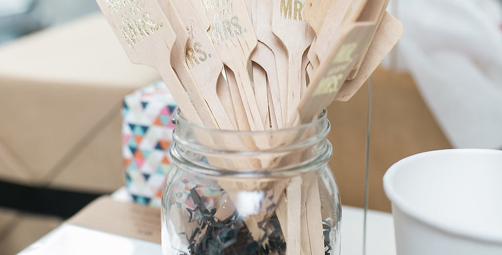 Mr. & Mrs. Wedding Stir Sticks