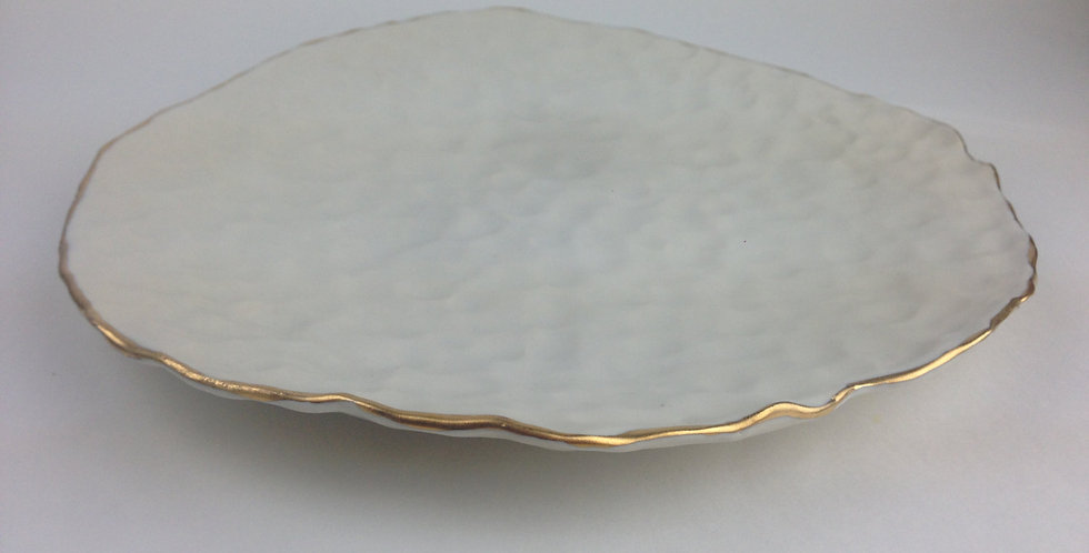 22K gold Pottery Porcelain Serving Platter
