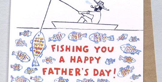 Gone Fishing- Greeting Card