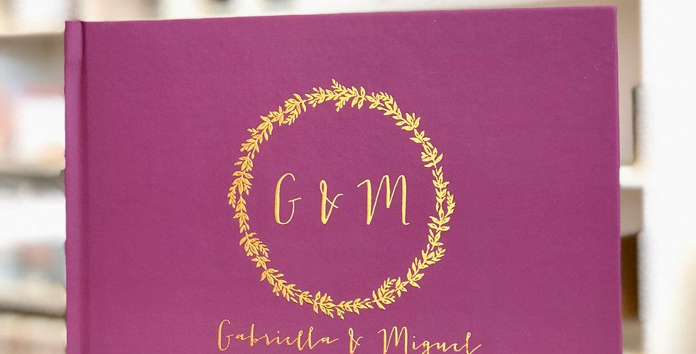 Fall Wedding Guest Book, Gold Foil Wedding Guest Book.1
