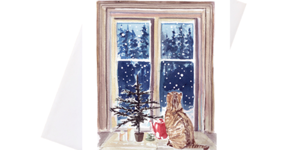 Holiday Cat-Greeting Card