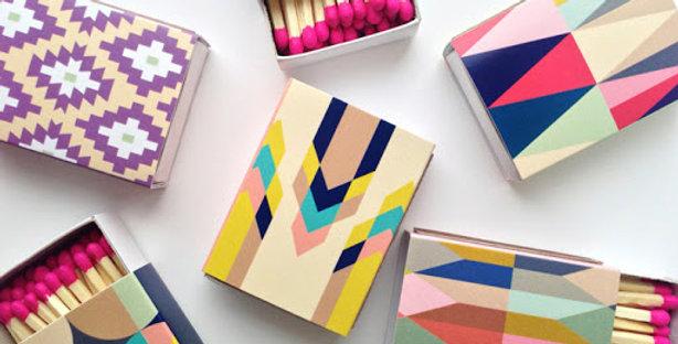 Geometric Design -Mini Match Boxes