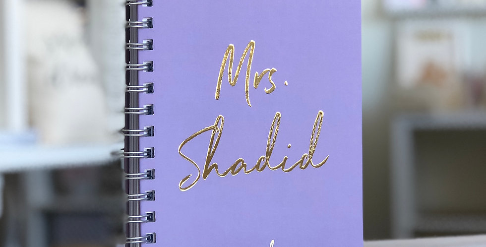 Future Mrs.Custom Wedding Planner Book