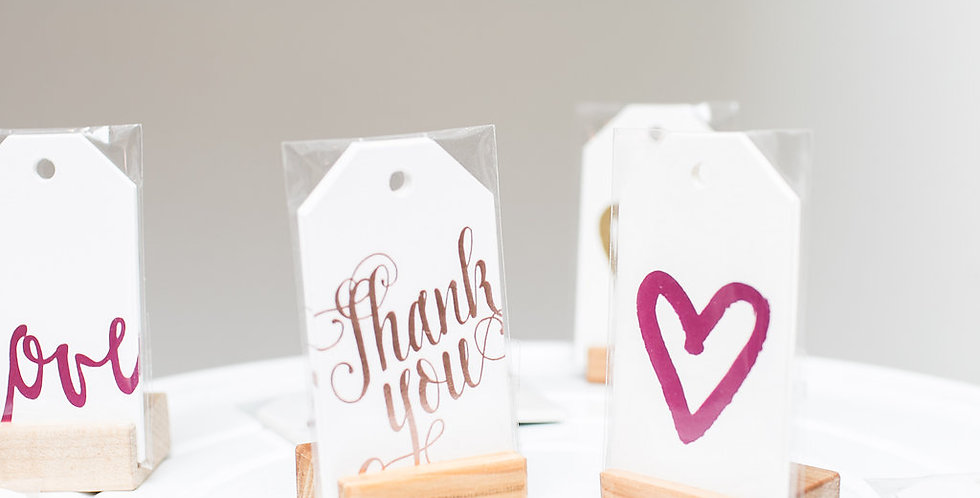 Foiled Hanging Gift tags