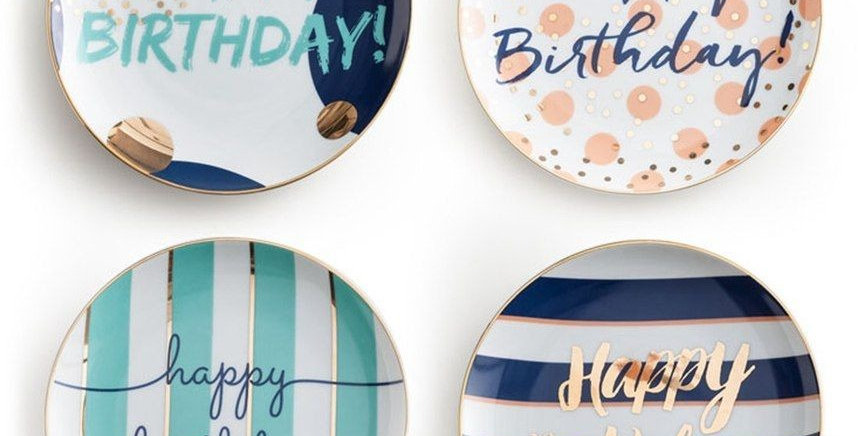 Adorable Birthday Cake Plates