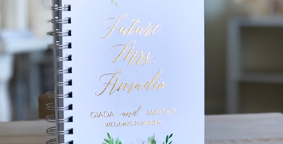 Floral Custom Wedding Planner Book