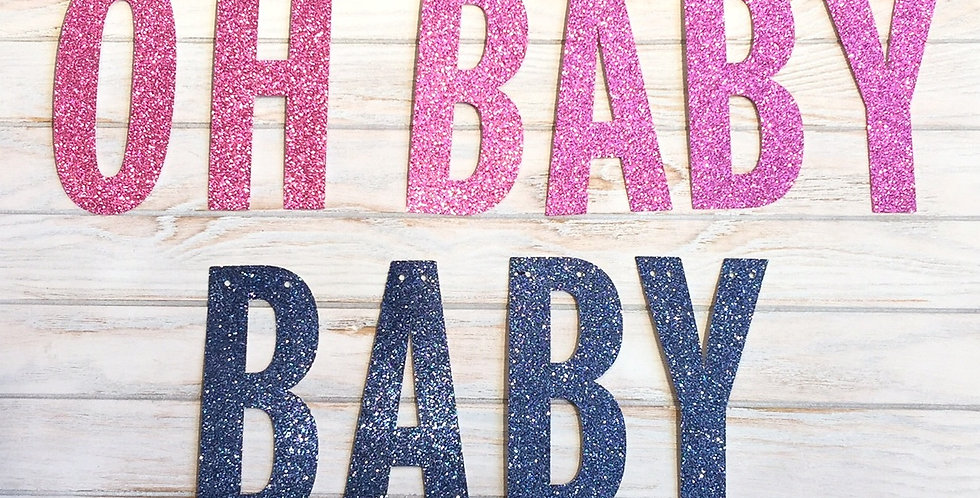 """OH BABY"" Party Banner"