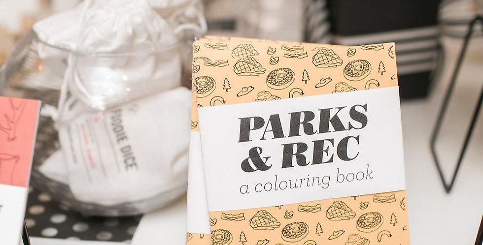 Parks & Rec - A Mini Colouring Book