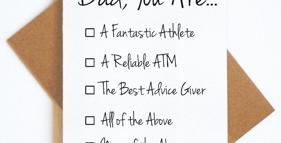 Dad checklist- Greeting Card