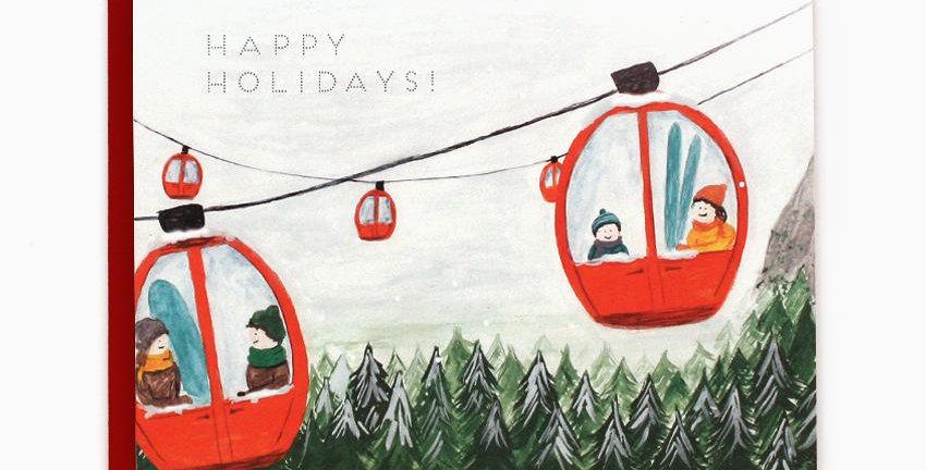 Gondola Holiday Card