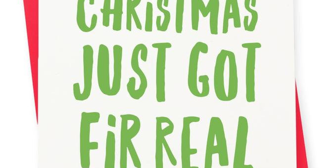 HOLIDAY CARDS-FIR REAL