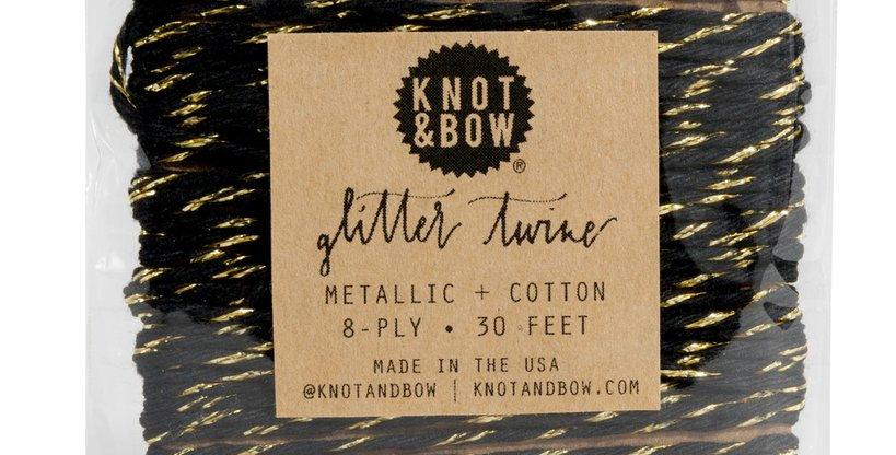 Glitter Twine- Black & Gold