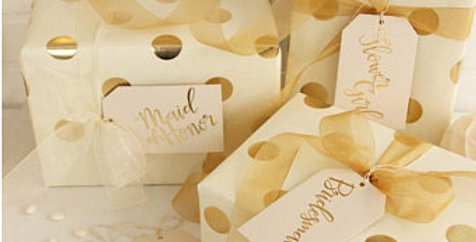 White & Gold Wedding Oversized Gift tags
