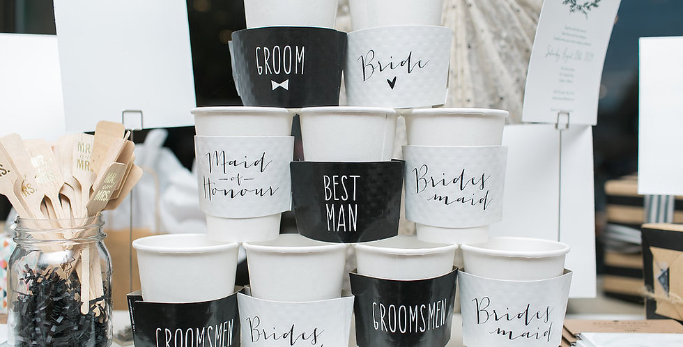 Bridal Party Coffee Sleeves