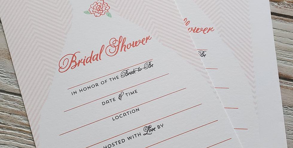 Bridal Shower Fill In Invitations