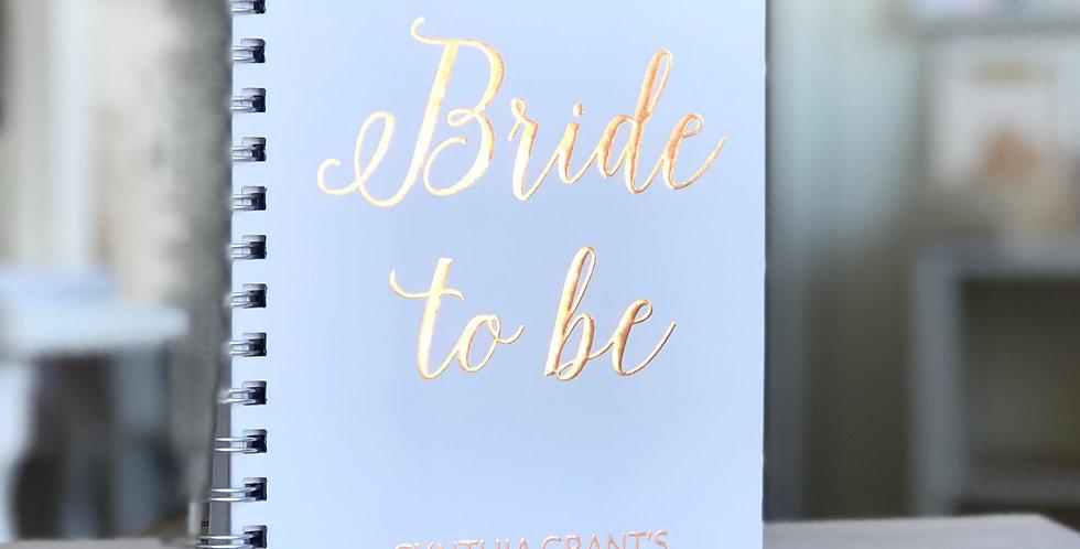 Bride- To- Be Custom Wedding Planner Book