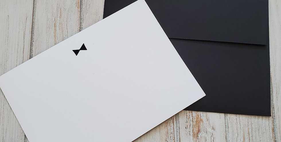 Black Bowtie Stationery-Note card set