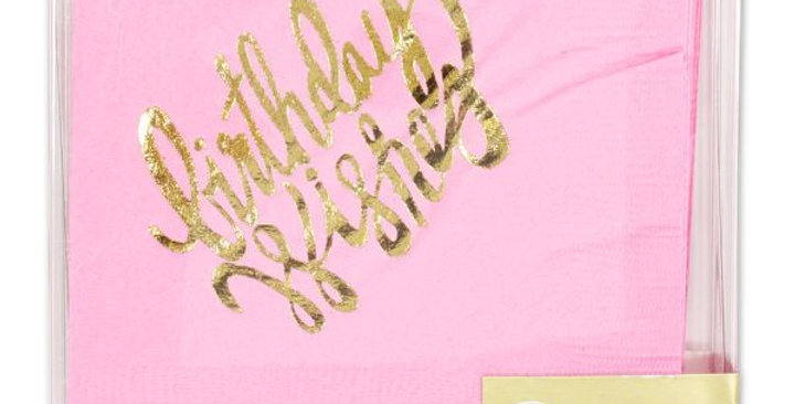BIRTHDAY WISHES GOLD FOIL NAPKINS
