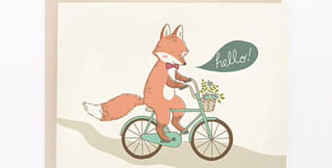 Fox- Hello Gretting card