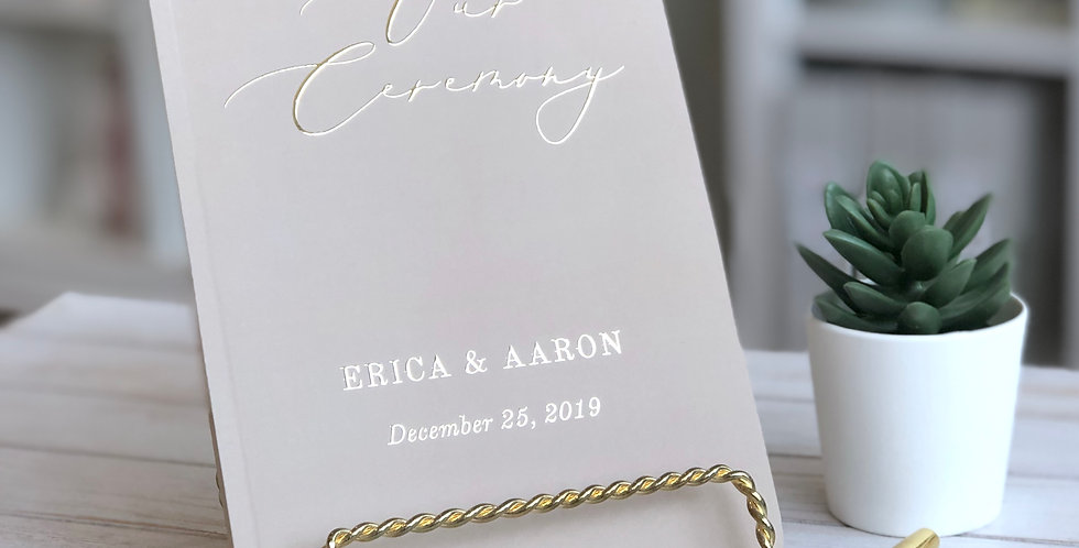 Our Ceremony Officiant Book // Day of Wedding Detail, Officiant Journal
