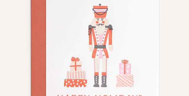 Happy Holidays- Toy Solider- Greeting Card