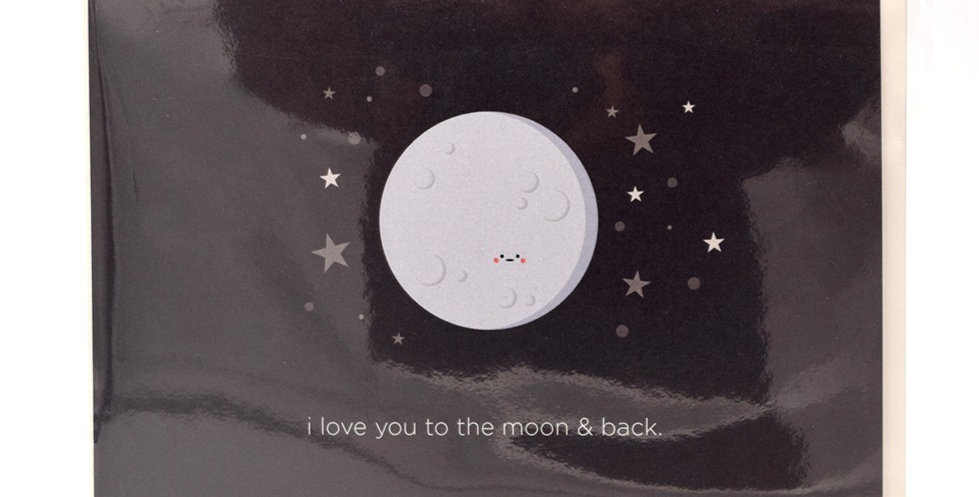 Halifax Paper Hearts Card - To The Moon And Back