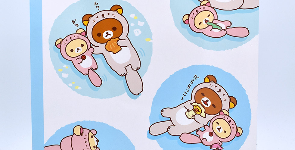 Rilakkuma Sea Otter Notebook Large