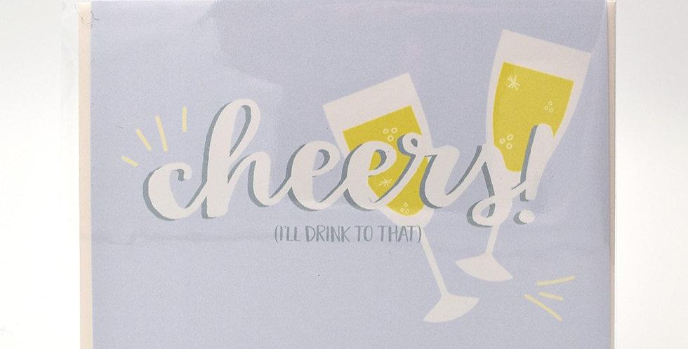 Halifax Paper Hearts Card - Cheers