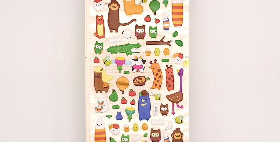 Animal Farm Puffy Sticker Sheet
