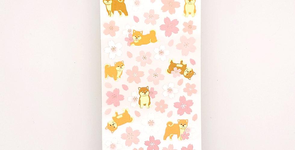 Flower Shiba Inu Sticker Sheet