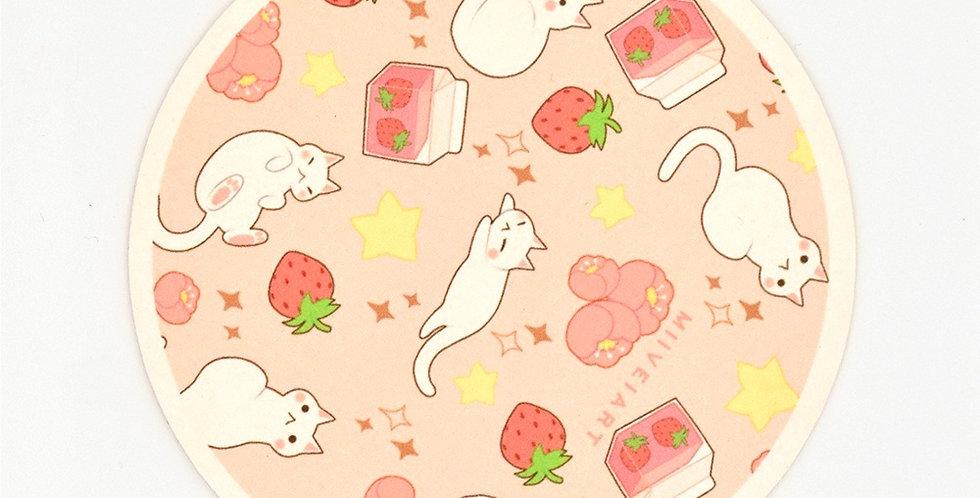 Miiveiart Cat Milk Coaster