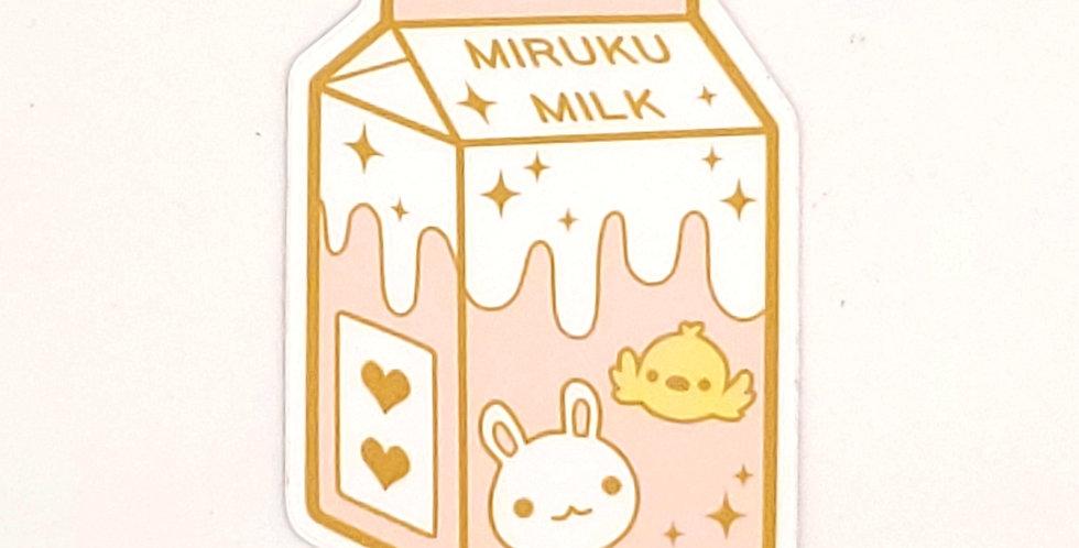 Miiveiart Miruku Milk Sticker