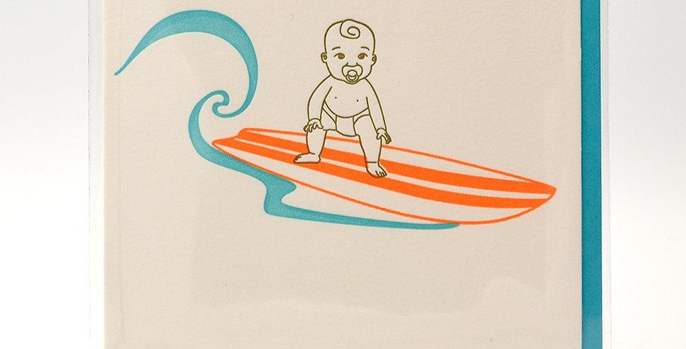 Dogwood Letterpress Card - Baby On Board