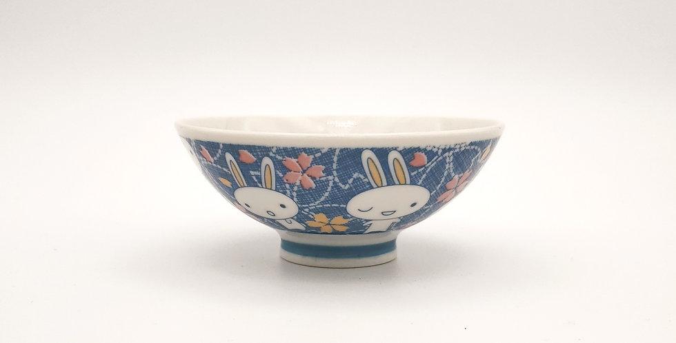Small Bunny Blue Bowl