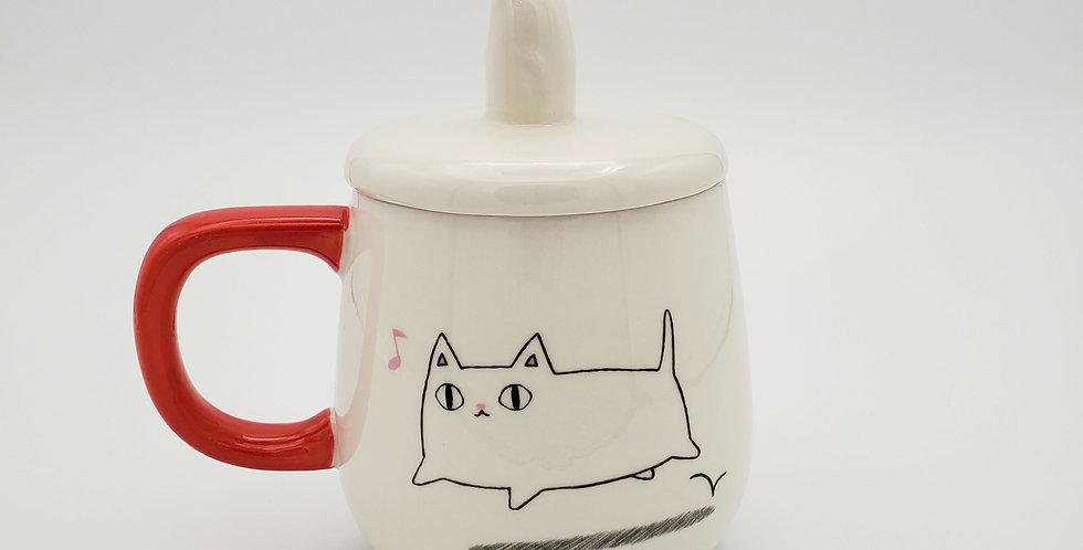 Shiro Drinking Mug With Lid