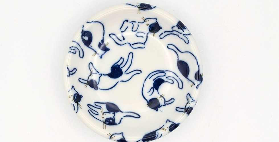 Small Blue Cat Plate